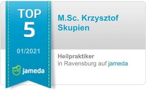 Jameda: Top 5 Heilpraktiker in Ravensburg (01/2021)